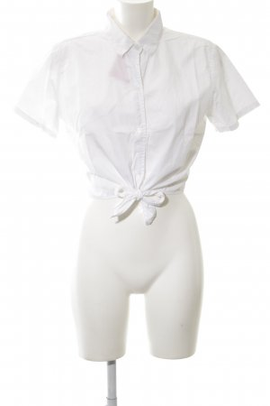 American Apparel Short Sleeved Blouse white extravagant style