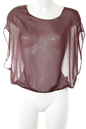 American Apparel Kurzarm-Bluse bordeauxrot schlichter Stil