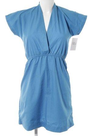 American Apparel Kurzarmkleid neonblau Casual-Look