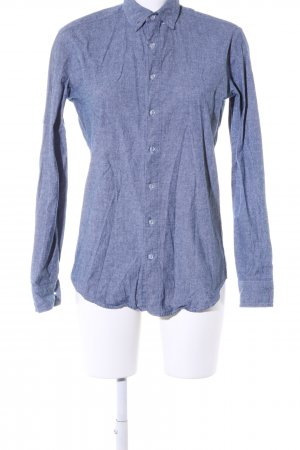 American Apparel Langarmhemd blau meliert Casual-Look