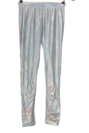 American Apparel Leggings blue-silver-colored color gradient casual look