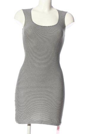 American Apparel Robe courte noir-blanc motif rayé style décontracté