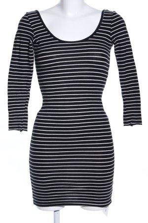 American Apparel Mini-jurk zwart-wit gestreept patroon casual uitstraling