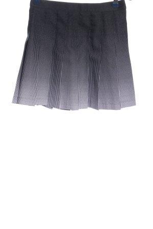 American Apparel Mini-jupe noir-blanc imprimé allover style décontracté