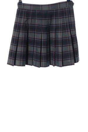 American Apparel Mini-jupe noir-gris clair motif à carreaux style décontracté