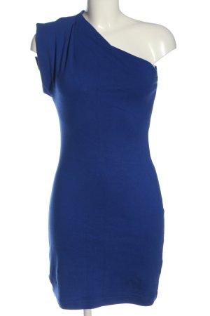 American Apparel Vestido de un hombro azul elegante