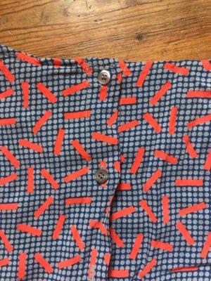 American Apparel: Overall/ Jumpsuit, orange/ blau, sommerlich, leichter Stoff, Gr. XS/ 34