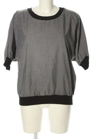 American Apparel Oversized Shirt hellgrau-schwarz meliert Casual-Look