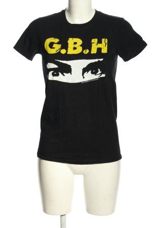 American Apparel Print-Shirt Motivdruck Casual-Look