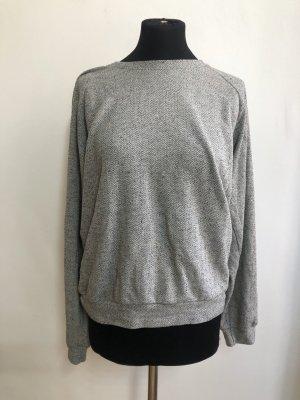 American Apparel Jersey de cuello redondo gris claro