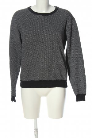 American Apparel Crewneck Sweater black-white abstract pattern casual look