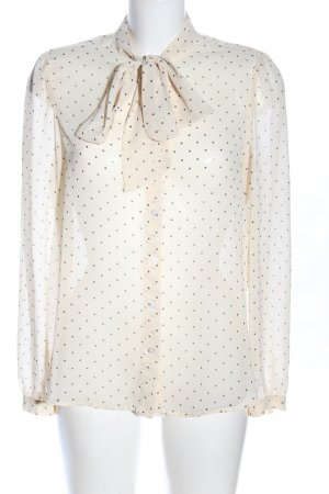 American Apparel Blouse avec noeuds crème-gris clair motif de tache élégant