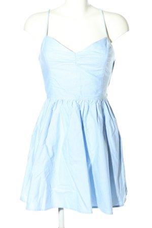 American Apparel schulterfreies Kleid blau Casual-Look