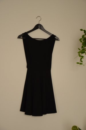 AMERICAN APPAREL - schwarzes Kleid mit großem Rückenausschnitt