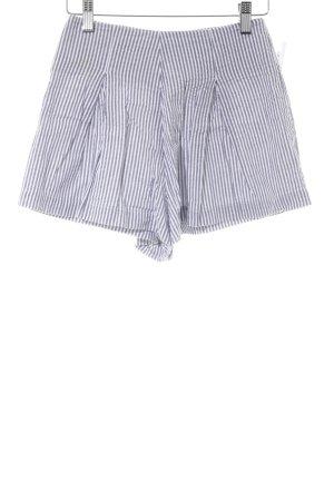 American Apparel Shorts grau-weiß Streifenmuster Casual-Look