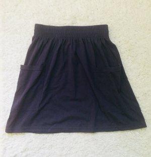 American Apparel Skater Rock Skirt blau Gr. S