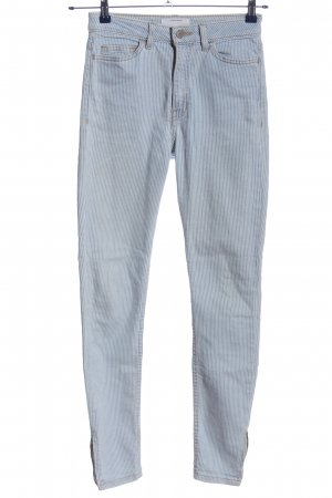American Apparel Skinny Jeans blue-white striped pattern casual look
