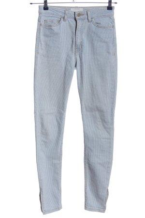American Apparel Skinny jeans blauw-wit gestreept patroon casual uitstraling