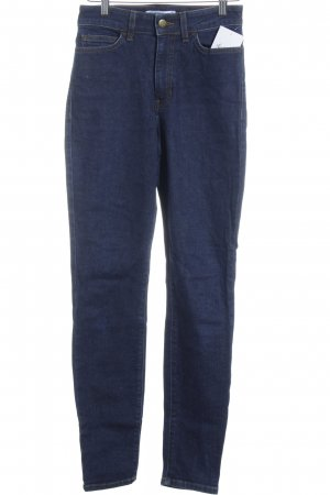 American Apparel Slim jeans donkerblauw simpele stijl