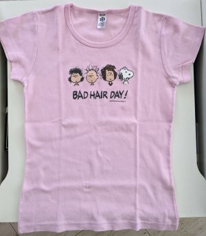 American Apparel T-shirt noir-rose clair