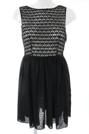 American Apparel Kanten jurk zwart transparante uitstraling