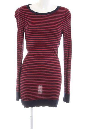 American Apparel Gebreide jurk zwart-rood gestreept patroon casual uitstraling