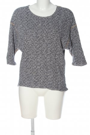 American Apparel Knitted Sweater black-white flecked casual look