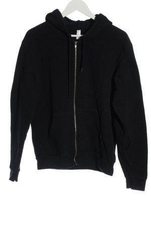 American Apparel Sweatjack zwart gestreept patroon casual uitstraling