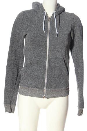 American Apparel Sweat Jacket light grey flecked athletic style