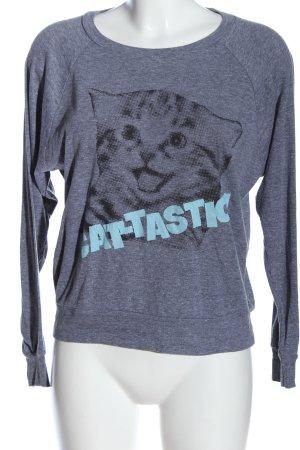 American Apparel Sweatshirt bleu-noir moucheté style décontracté