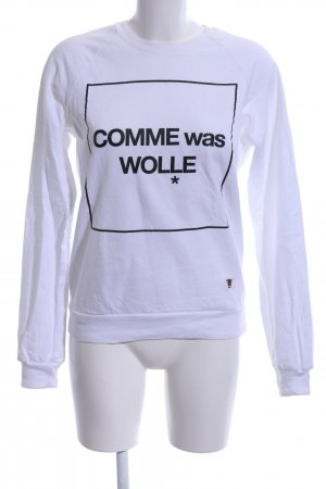 American Apparel Sweatshirt wit-zwart gedrukte letters casual uitstraling