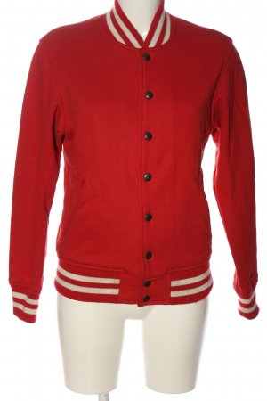 American Apparel Sweat Shirt red-white striped pattern athletic style