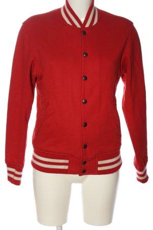 American Apparel Sweatshirt rot-weiß Streifenmuster sportlicher Stil