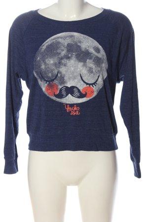American Apparel Sweatshirt bleu imprimé avec thème style décontracté