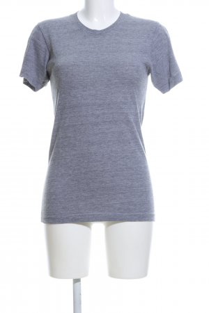 American Apparel T-Shirt hellgrau meliert Casual-Look