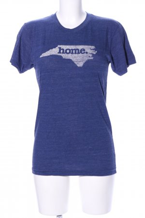 American Apparel T-shirt blauw-wit gestippeld casual uitstraling