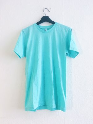 American Apparel Camiseta turquesa-azul claro