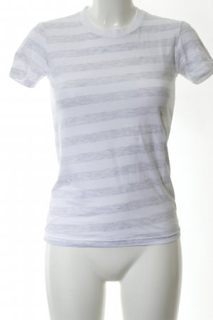 American Apparel T-shirt wit-lichtgrijs gestippeld casual uitstraling