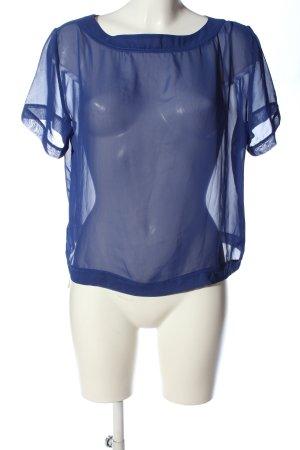 American Apparel Transparenz-Bluse blau Elegant