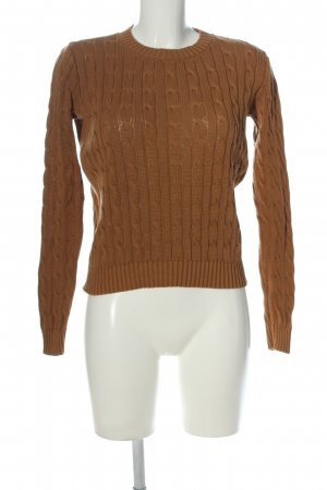 American Apparel Cable Sweater bronze-colored cable stitch casual look