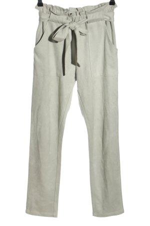 American Dreams Hoge taille broek lichtgrijs casual uitstraling