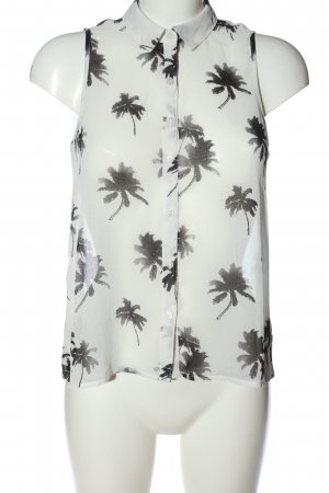 american eagle Sleeveless Blouse white-black allover print casual look
