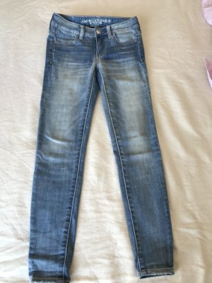 American Eagle Outfitters Skinny Jeans blue mixture fibre