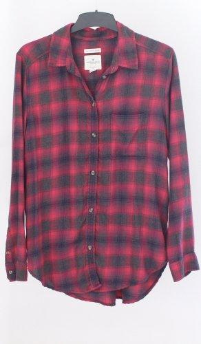American Eagle Outfitters Camisa de franela rosa-gris antracita