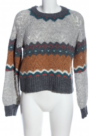 american eagle Coarse Knitted Sweater multicolored casual look