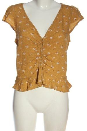 american eagle Short Sleeved Blouse allover print elegant