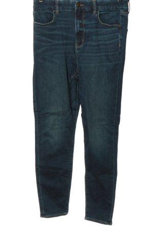 american eagle Jeans taille haute bleu style décontracté