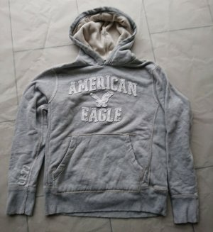 american eagle Hooded Sweater silver-colored cotton