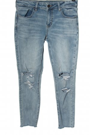 american eagle Jeans vita bassa blu stile casual