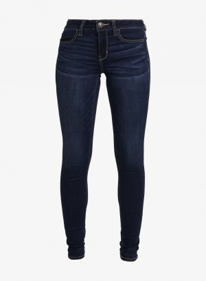 american eagle Stretch jeans donkerblauw